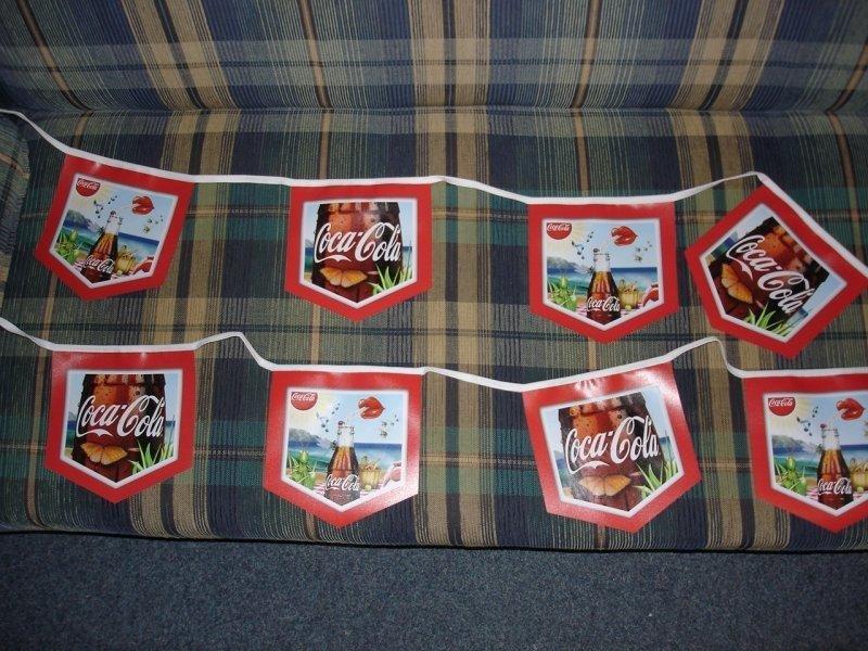 PVC vlajkové řetězce - Coca Cola
