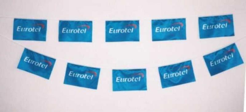 Textilní PES vlajkové řetězce - Eurotel