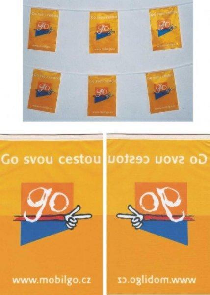 Textilní PES vlajkové řetězce - GO
