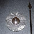 Interiérový 1 stojan - mramor chrom s tyčí