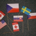 Papírové vlaječky mávátka