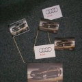 Papírové vlaječky na mávátkách - Audi