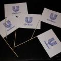 Papírové vlaječky mávátka - Unilever