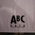 Reklamní ubrus PES - ABC bílé - detail