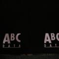 Reklamní ubrus PES - ABC černé - detail
