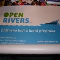 PVC bannery - OPEN RIVERS