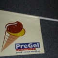 PVC vlaječky s držáky - Pre Gel
