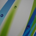 Detail potisku reklamní desky Dibond