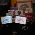 Reklamní vlaječky - Fujitsu, Intel
