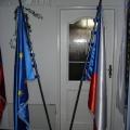 Slavnostní vlajky - ČR EU - dvojstojan mramor