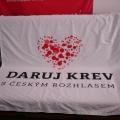 Textilní transparenty, PES tkanina - Daruj krev