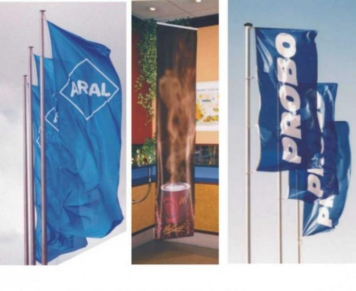 Ukázka produkce vlajek