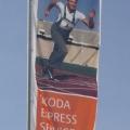 Vlajky na stožárech - Škoda express service