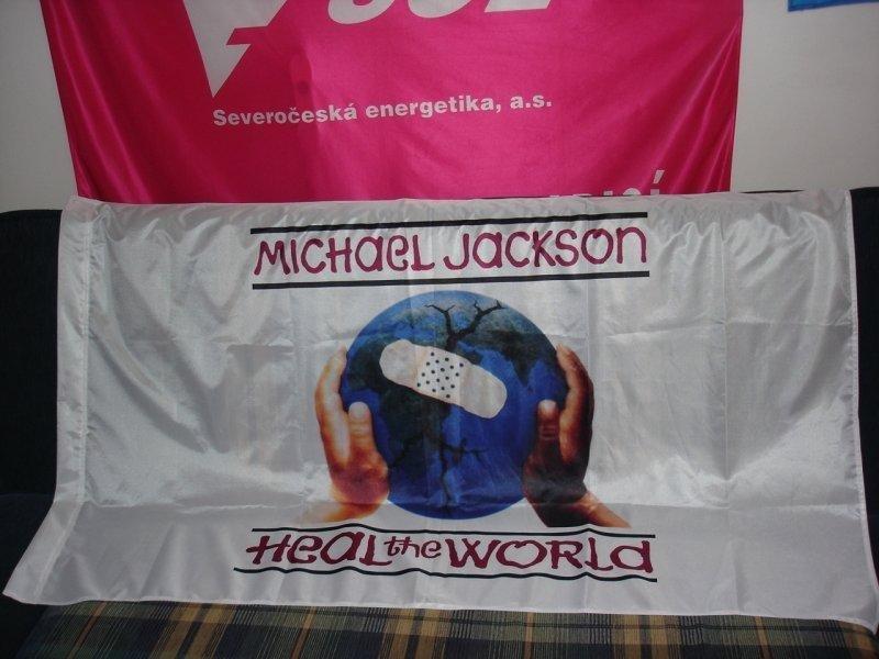 Reklamní vlajky na tyče - Michael Jackson