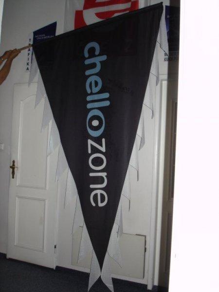 Reklamní vlajky na tyče - Chell Zone