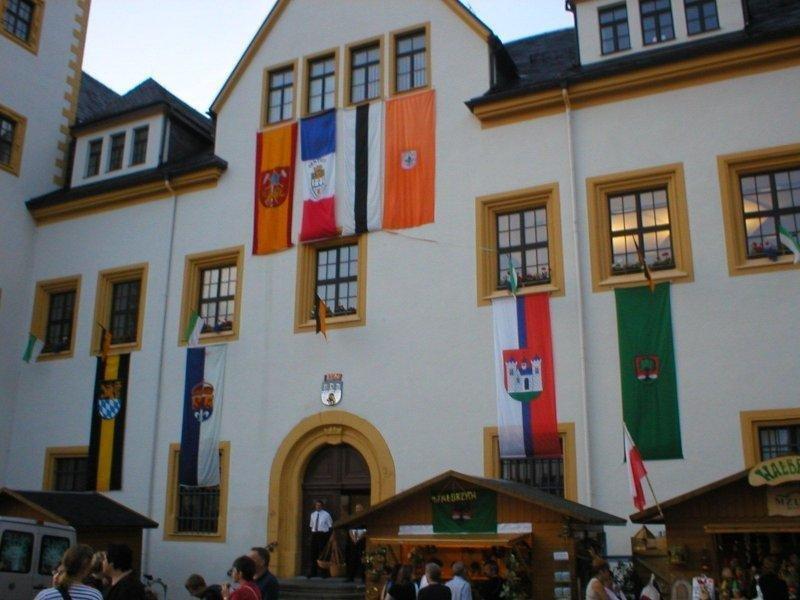 Reklamní vlajky na tyče - Radnice