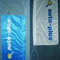 Reklamní vlajky na tyčky na plotech - Auto plus