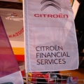 Reklamní vlajky na tyčky na plotech - Citroen