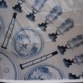 Digitální tisk na PES klasický úplet - makro detail