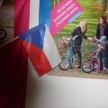 Textilní mávátko PES vlajka - ČR