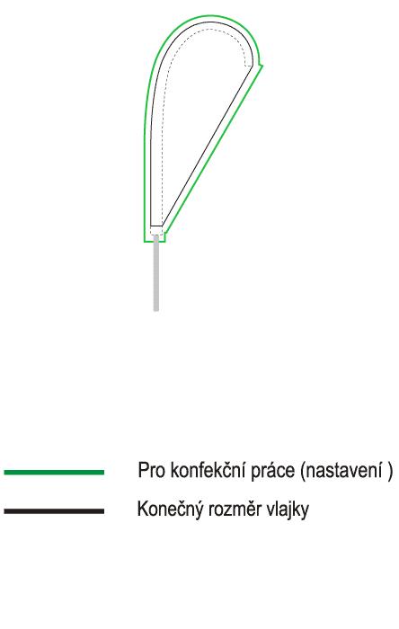 Vlajky kapky 40x80