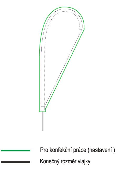 Vlajky kapky 55x130